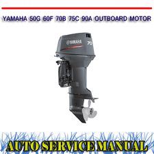 YAMAHA 50G 60F 70B 75C 90A OUTBOARD MOTOR WORKSHOP SERVICE REPAIR MANUAL ~ DVD