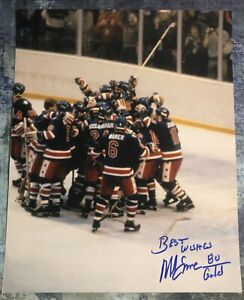GFA 1980 Miracle on Ice Captain MIKE ERUZIONE Signed 11x14 Photo M3 COA