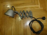 Vintage Russian Industrial Machine Age Military Scissor Arm Lamp  Extension1979