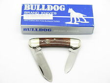 VTG 1996 BULLDOG BRAND PIT BULL BURLWOOD CANOE FOLDING POCKET KNIFE