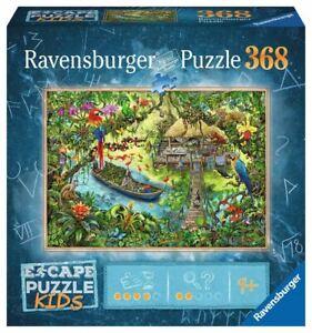 Ravensburger Jigsaw Puzzle Escape Puzzle Kids 368 Pieces, Jungle Jigsaw Puzzle