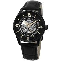 Stuhrling Men's Automatic Black Calfskin Stainless Steel Case Watch 992.02