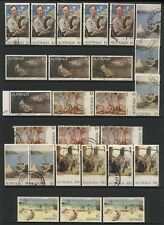 Australia Collection 26 Australian Paintings Stamps Used
