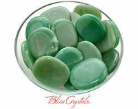 1 GREEN AVENTURINE XL Flat Palm Stone Healing Crystal and Stone #GP24