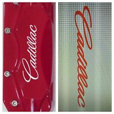 6 pc Custom Cadillac Brake Caliper Vinyl Sticker Decal Logo Overlay Graphics cts