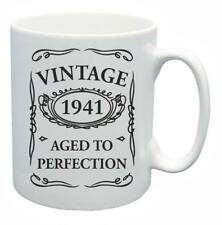 77th Novelty Birthday Gift Present Tea Mug 1941 Aged To Perfection Coffee Cup