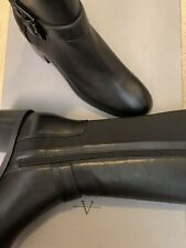 AQUATALIA JESSA Water Resistant Leather MOTO Knee Boots MSRP $570 made in Italy