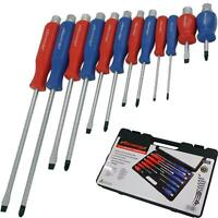 Neilsen 12pc Mechanics Phillips Pozi Slotted Go Through Magnetic Screwdriver Set