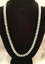 Navajo Handmade Sterling Silver Bead Necklace by Jan Mariano