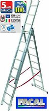 Scala Telescopica In Alluminio Facal Euro Stilo 3 Rampe X 10 Gradini 7,12 mt.
