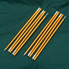 2pcs 5 Sections Tarp Shelter Canopy Tent Awning Support Rod Upright Porch Poles