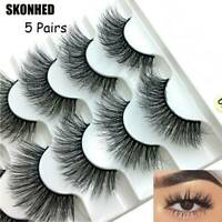 5 Pairs 3D Mink False Eyelashes Natural Exquisite Handmade Lashes Extension