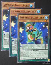 Set 3X ARTISTAMICO ANGUILLA SIGILLO Performapal Seal INOV-IT004 Pendulum YUGIOH