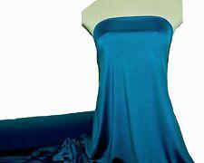 "MICROFIBER JERSEY SPANDEX FABRIC TEAL BLUE  60""  MEDIUM WEIGHT TEE SHIRTS"