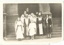 1930s Costume Group Snapshot Middle Eastern Dress and Beards - Jewish? Arab?
