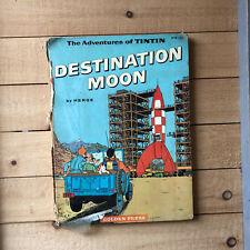 Destination Moon Adventures of Tintin 1960 Golden Press 1rst US Ed Herge 1953