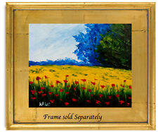 Natasha Petrosova   Original Oil  Modern Painting Trees Flowers Meadow Sky 5847