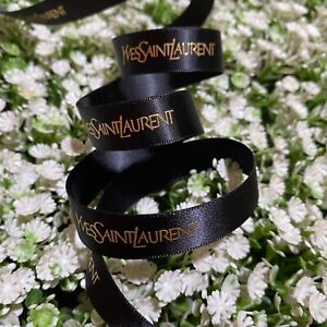 1 meter of Authentic black YSL gift wrap ribbon shipped from Thailand.
