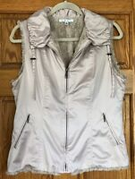 CAbi Reversible Alpine Champagne Vest #251 Size M
