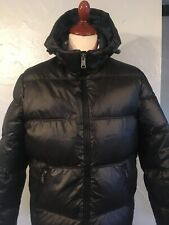 Mens GUESS  PADDED DOWN JACKET .SIZE LARGE.BLACK.100% AUTHENTIC.