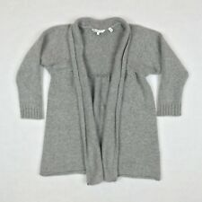 Vince Women's Cashmere Cardigan Sweater Gray Size Small 3/4 Sleeve Open Front