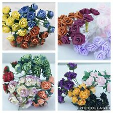 1068 x Mini Roses Stems Bunches Flowers Wedding Craft Bouquet Cake