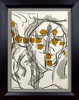 Jean-Paul RIOPELLE Original 1974 COLOR Lithograph LIMITED Ed. + Archival FRAME