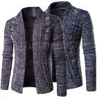 Men's Stylish Slim Fit Long Sleeve Knitting Cardigan Casual Coat Jackets Outwear