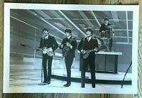 LARGE BEATLES HISTORIC 12 X 18  PHOTO- ED SULLIVAN SHOW-NEW YORK-1964  10112