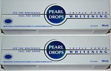PEARL DROPS TRIPLE POWER WHITENING TOOTHPASTE 90ML X 2 TUBES