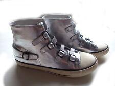 Sneaker Venice silber Leder Gr. 41 Schuhe Second Hand ungetragen Turnschuhe