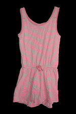 GAP Girls Jumpsuit Romper Shorts Outfit Pink White Striped Sleeveless Size 8