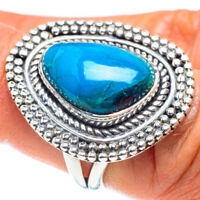 Chrysocolla 925 Sterling Silver Ring Size 7.5 Ana Co Jewelry R58642F
