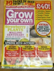 Grow your Own magazine Feb 2021 Get the most from Spring + 10 packets of seeds