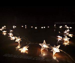 6M 40LED Warm white USB Star Lights Fairy Wire string Indoor Xmas Party Decor