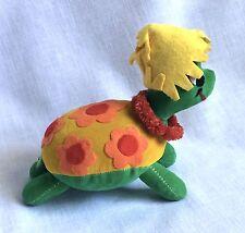 Dakin Dream Pets Turtle Vintage Saw Dust Stuffed Plush Flowers Green Tortoise