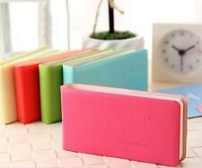 New Office School PU Leather Notepad Cute Smiley Face Diary Scratchpad Book U173