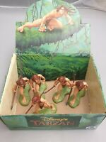 5x Bully Disney Tarzan Figur (ca. 10cm) mit Display-Box handpainted / Bullyland