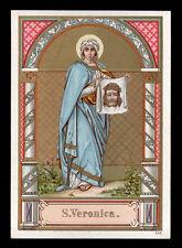 antico santino cromo-holy card S.VERONICA