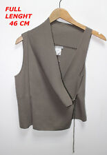 SARAH PACINI GRAY/BROWNY COLOR LADIES WOMAN TOP BLOUSE ONE SIZE SLEEVELESS