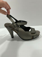 Ziera Pewter Heels Size 37/6 Comfort High heel, Fully undo and open to put on.