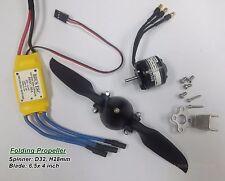 "KGM654B-1 set 6.5x 4"" Folding Prop. 30A ESC & BL motor kit,FW:550g for RC Glider"