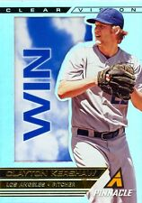 CLAYTON KERSHAW 2013 PINNACLE CLEAR VISION WIN #CV17! FREE SHIP! DODGERS!