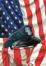 """POLICE HAT 12""""X18"""" AMERICAN GARDEN FLAG BANNER FOR POLE. SUPPORT THIN BLUE LINE"""