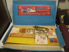 Vintage Wonder Pen Woodburning Craft Set Working condition w/ Supplies