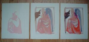 SALVADOR DALI - 3 Divine Comedy Woodblock Prints - Paradise 6 Progressive Set