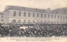 CPA GUERRE FUNERAILLES DE LA CATASTROPHE DU LIBERTE DISCOURS FALLIERES