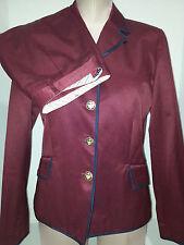 TOMMY HILFIGHER Womens 2 Piece Skirt Suit Blazer Jacket Size 6 Small Maroon Wine