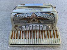 Vintage Universal Genuine Ensemble Accordion Pearl/Gold Finish Italian