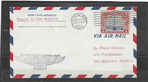 1930 Southern Route 33 First Flight Air Mail Cover, Tucson - Los Angeles